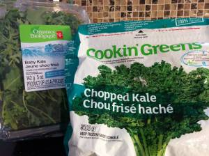 Frozen greens or pre-packaged green make it quick and easy to include them in your meals.
